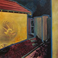 Blinding :: (50cmx50cm) Acrylic and oil on canvas